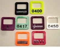 Garderobenmarken, Garderobenchips – eckige Form 31 x 31 x 2,3mm