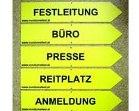 Festorganisation, Beschriftung, Hinweisschilder, Wegweiser, Leitsystem