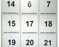 Tischnummern für Festtische